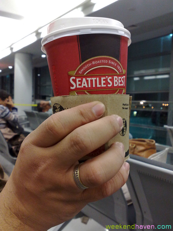 seattle's best + wedding ring + NAIA Terminal 3