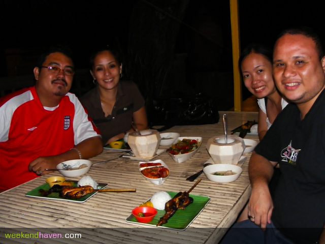 at Jo's Chicken Inato by the Sea with our friends from Tanjay
